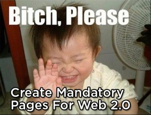 Mandatory Pages for Web 2