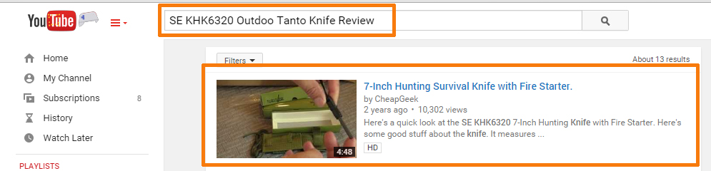 Knife Review With YouTube