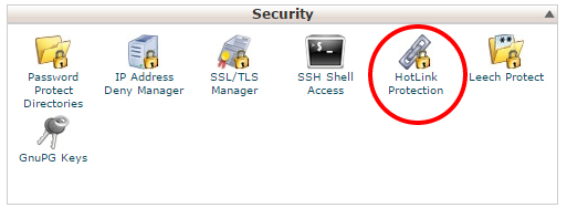 hotlink protection from cpanel