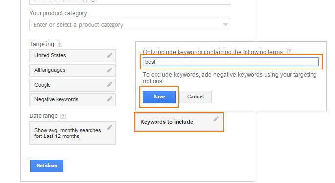 Google Keyword Planner Keyword Research 4