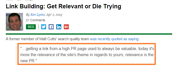 Link Relevance Matters