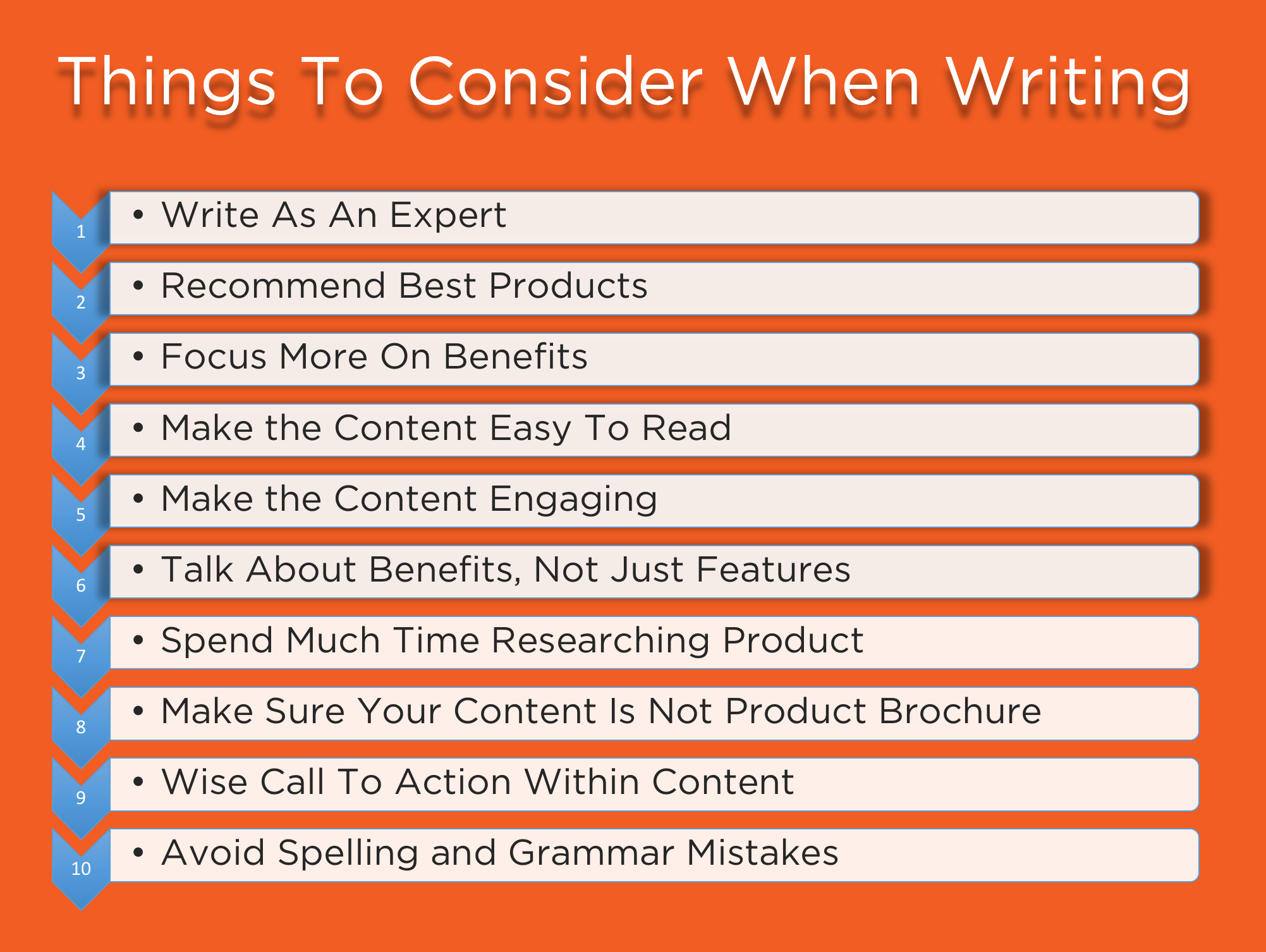 Things To Consider When Writing Contents